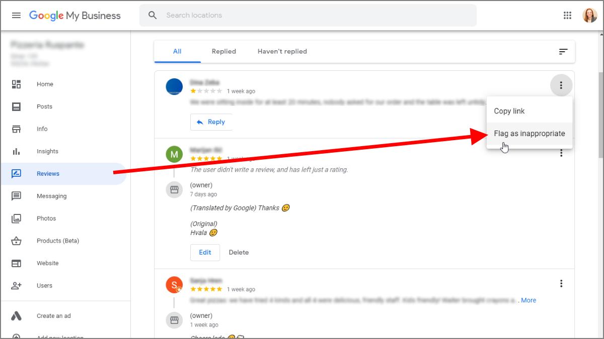 Kako prijaviti recenziju Googleu