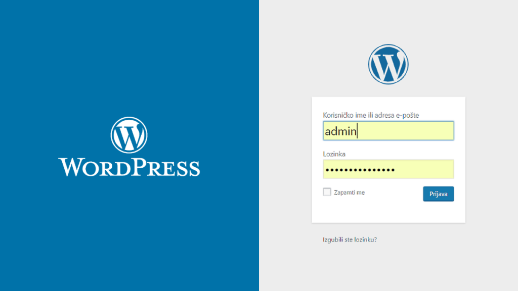 Kako se prijaviti u WordPress?