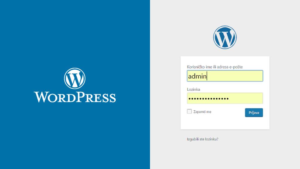 Kako se prijaviti u WordPress?